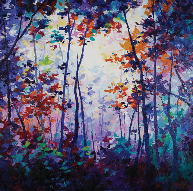 Prismatic Foliage|Remya Kumar- Acrylic on Canvas, 2014, 36 x 36  inches