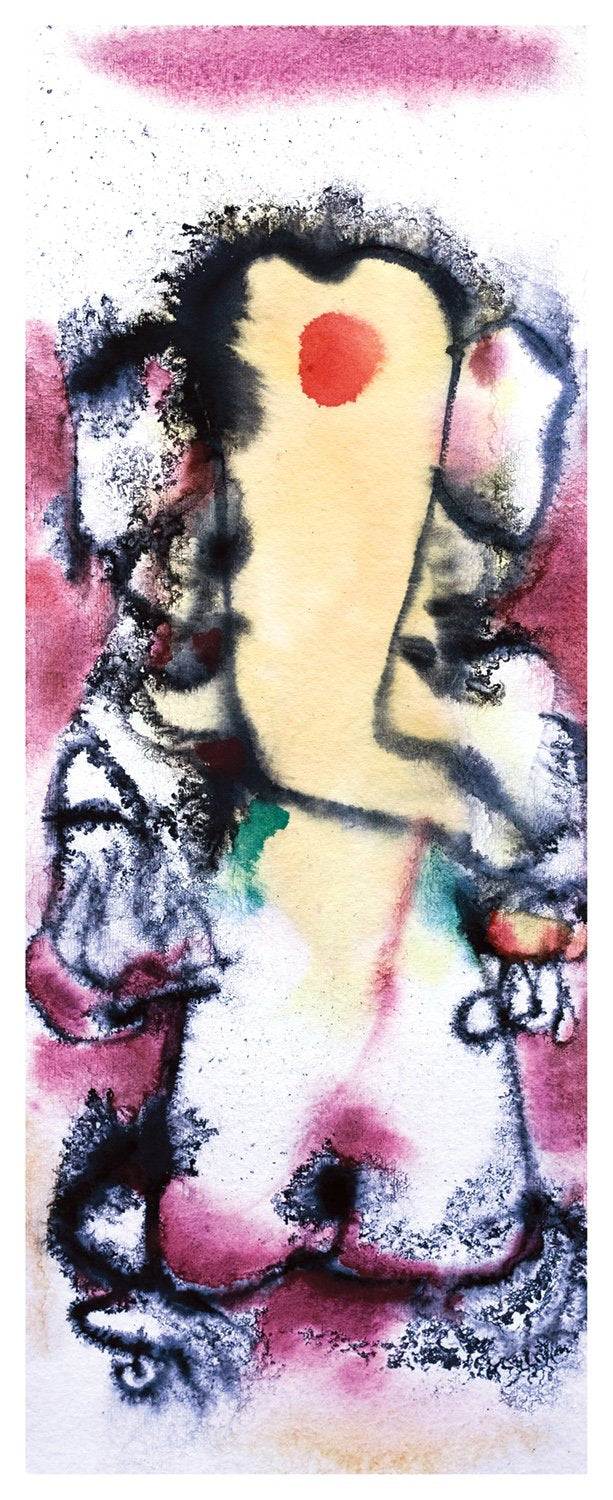 Ganesha 12|N.S. Manohar- Water colour on Board, 2013, 21.5 x 8 inches