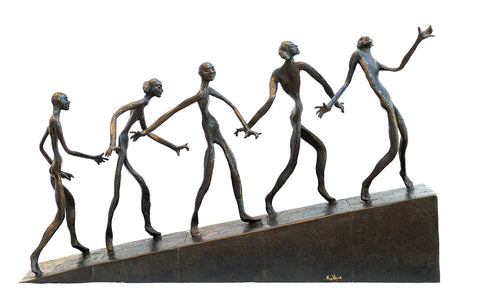 Ramp|K.S. Radhakrishnan- Bronze, 2015, 30 x 9 x 19 inches