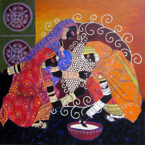 Serene Harmony 6|Anuradha Thakur- Acrylic on Canvas, 2012, 48 x 48 inches