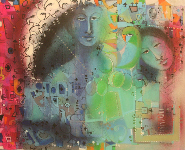 Monsoon II|Madan Lal- Acrylic on Canvas, 2013, 22 x 36 inches