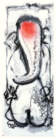 Ganesha 13|N.S. Manohar- Water colour on Board, 2013, 21.5 x 8 inches