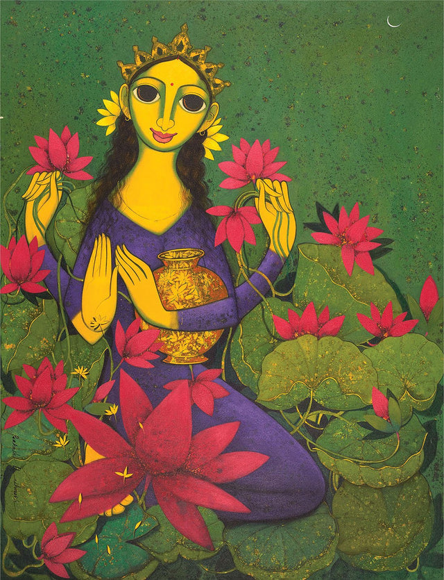 Lakshmi|Prakash B. Deshmukh- Acrylic on Canvas, 2013, 48 x 36 inches