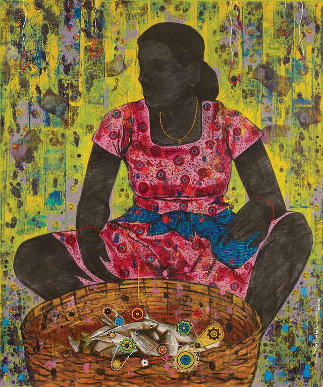 Lost culture 4|Vallabh Govind Namshikar- Mixed Media on Canvas, 2015, 36 x 30 inches