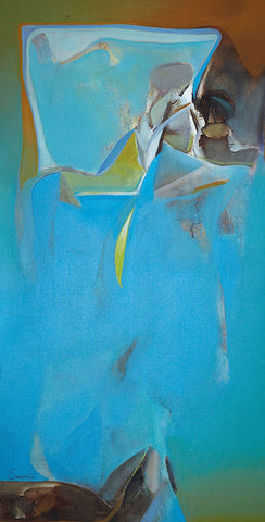 Nature III|Shrikant Lalasaheb Kadam- Acrylic on Canvas, 2014, 48 x 24 inches