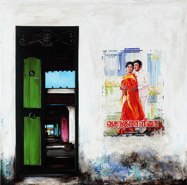 Door Series 19|K.R. Santhana Krishnan- Acrylic on Canvas, 2013, 36 x 36 inches