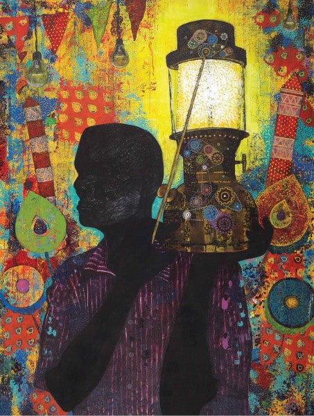 Lost Culture 2|Vallabh Govind Namshikar- Mixed Media on Canvas, 2014, 48 x 36 inches