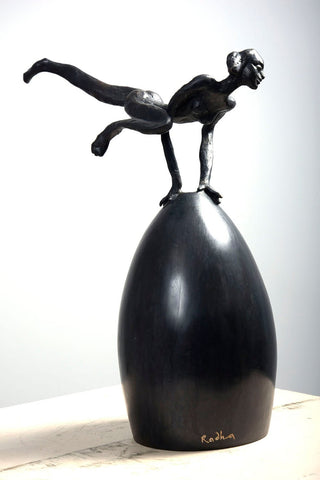 Maiya on the Shell|K.S. Radhakrishnan- Bronze, 2013, 15.5 x 13 x 6 inches