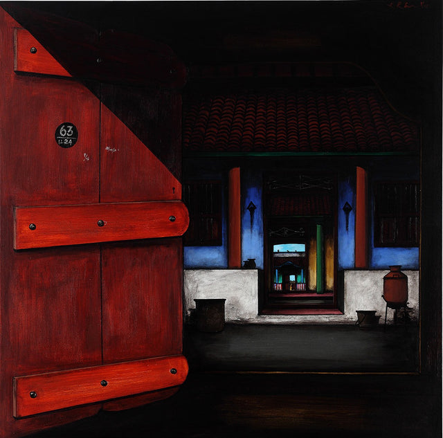 Door Series 20|K.R. Santhana Krishnan- Acrylic on Canvas, 2013, 36 x 36 inches