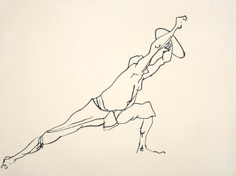 Performer 342|S. Mark Rathinaraj- Pen and Ink on Paper, , 15 x 21 inches