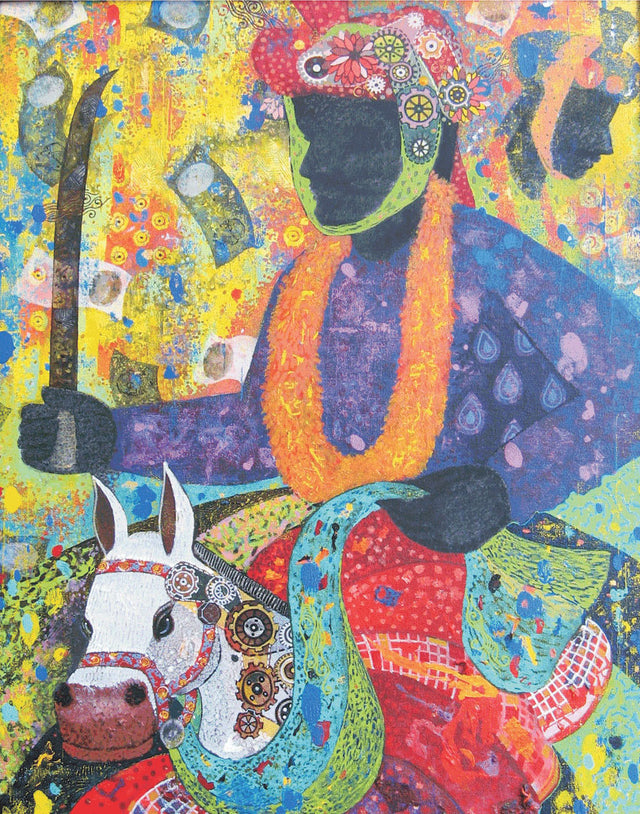 Lost Culture|Vallabh Govind Namshikar- Mixed Media on Canvas, 2014, 30 x 24 inches