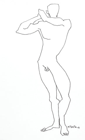 Nude 5|S. Mark Rathinaraj- Pen and Ink on Paper, , 8.5 x 5.5 inches