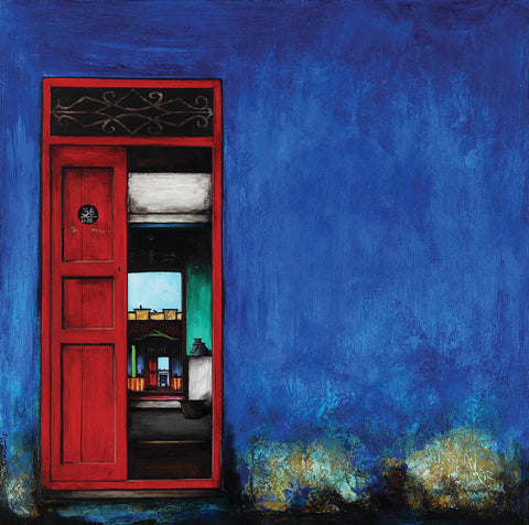 Door Series 21|K.R. Santhana Krishnan- Acrylic on Canvas, 2013, 36 x 36 inches