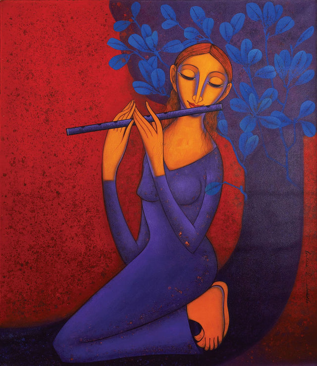 Lyrical Symphony|Prakash B. Deshmukh- Acrylic on Canvas, 2013, 42 x 36 inches