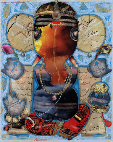 Ganesha Subra|G. Subramanian- Mixed Media on Canvas, 2013, 21 x 17 inches