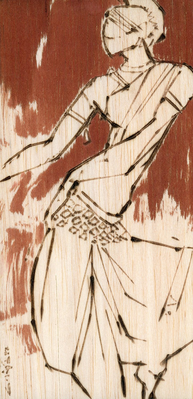Performer 246|S. Mark Rathinaraj- Pyrography on Balsa Wood, , 8 x 4 inches