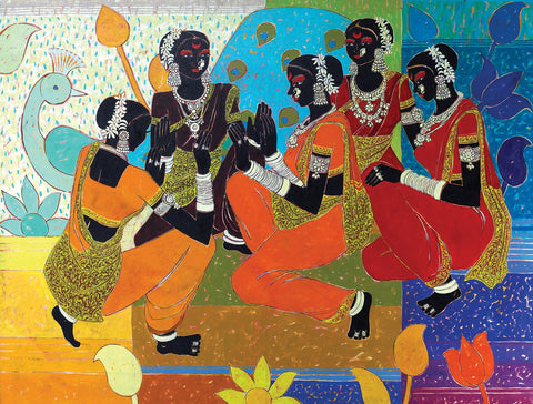 Transcending Rhythm 26|Anuradha Thakur- Acrylic on Canvas, 2012, 36 x 48 inches
