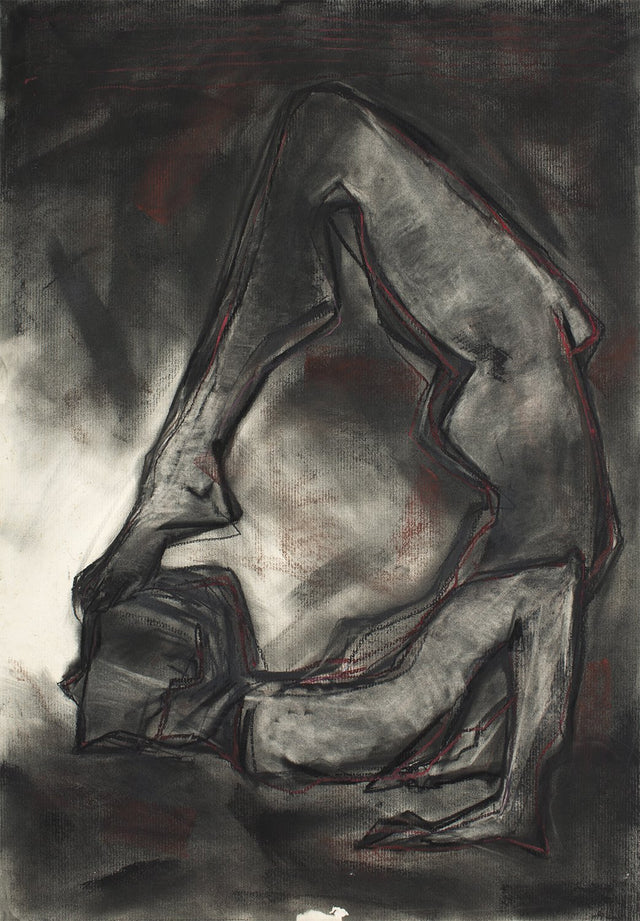 Yoga 56|S. Mark Rathinaraj- Charcoal on Board, , 38.5 x 28 inches