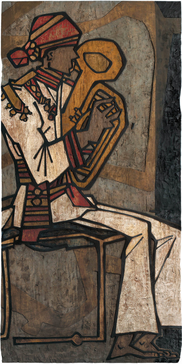 Performer 306|S. Mark Rathinaraj- Wood Carving, , 48 x 24 inches