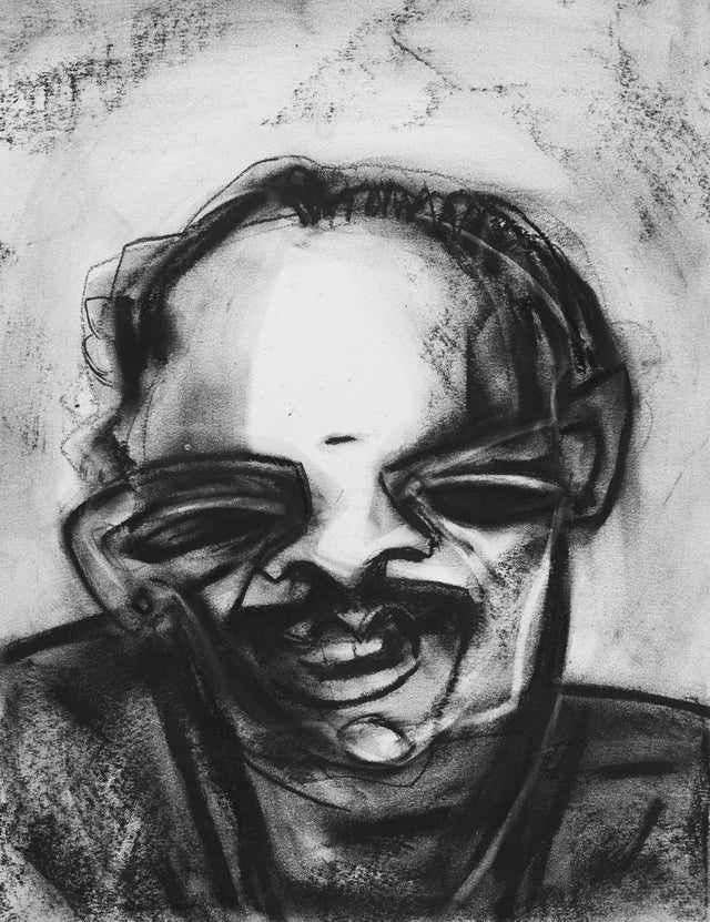 Neighbourhood 26|S. Mark Rathinaraj- Charcoal on Board, , 15 x 11.5 inches