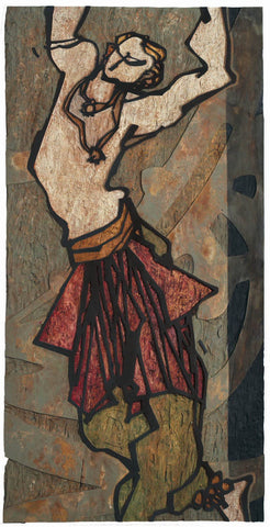 Performer 308|S. Mark Rathinaraj- Wood Carving, , 48 x 24 inches