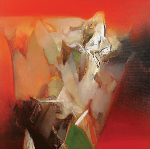 Nature XIII|Shrikant Lalasaheb Kadam- Acrylic on Canvas, 2014, 36 x 36 inches