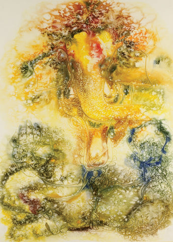 Ganesha 24|N.S. Manohar- Water colour on Board, 2014, 29 x 21 inches