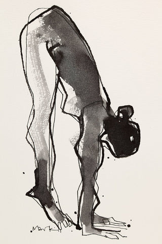 Yoga 16|S. Mark Rathinaraj- Pen and Ink on Paper, , 8.5 x 5.5 inches