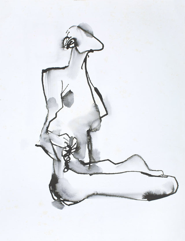 Yoga 58|S. Mark Rathinaraj- Pen and Ink on Paper, , 11.5 x 8 inches