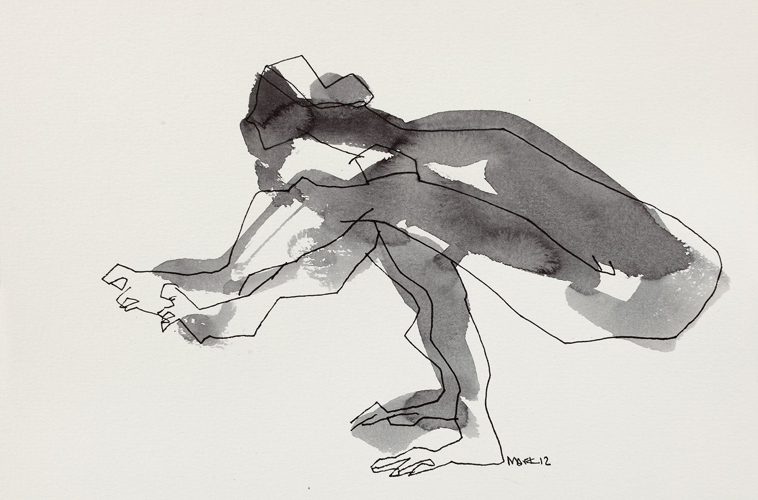 Yoga 30|S. Mark Rathinaraj- Pen and Ink on Paper, , 5.5 x 8.5 inches
