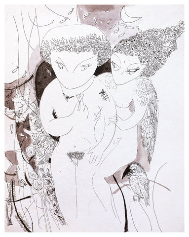 Beside of my Dream 36|A. Vasudevan- Pen and ink on board, 2013, 14.5 x 10.5 inches