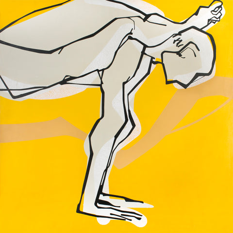 Yoga 32|S. Mark Rathinaraj-  Acrylic on Canvas, , 48 x 48 inches