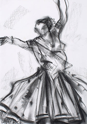 Performer 139|S. Mark Rathinaraj- Charcoal on Board, , 11 x 8 inches