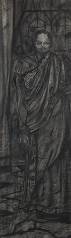 Studio VII|S. Mark Rathinaraj- Charcoal on Board, , 37 x 10 inches