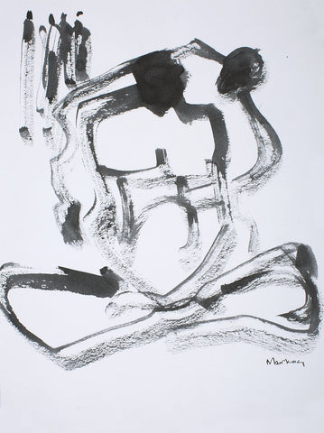 Nude 32|S. Mark Rathinaraj- Pen and Ink on Paper, , 13.5 x 10 inches