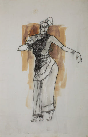 Performer 334|S. Mark Rathinaraj- Pen and Ink on Paper, , 17 x 11 inches