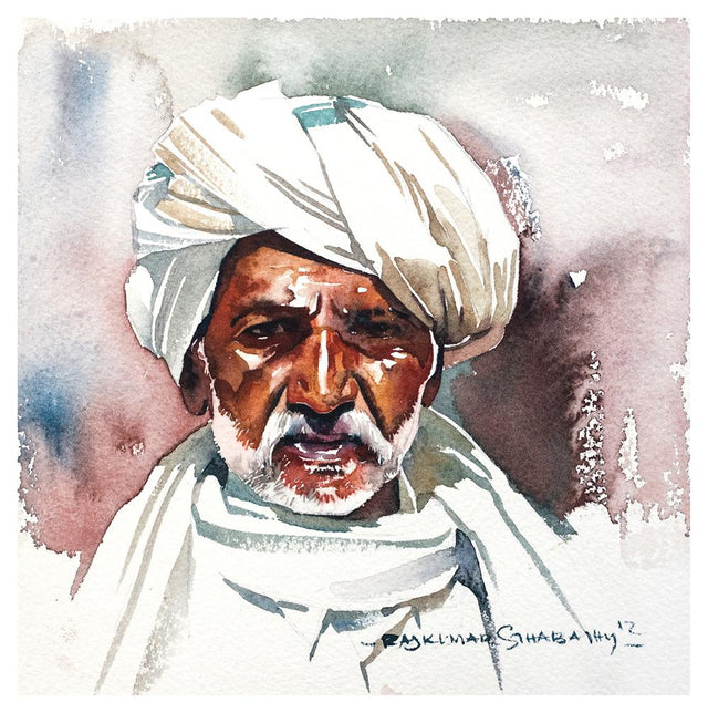 Portrait Series 51|R. Rajkumar Sthabathy- Water Color on Paper, 2012, 7 x 7 inches