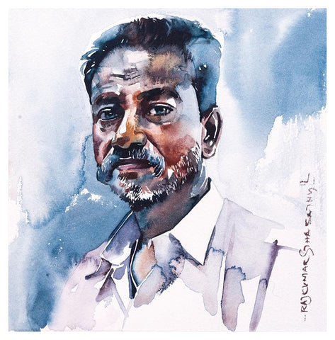 Portrait Series 64|R. Rajkumar Sthabathy- Water Color on Paper, 2012, 7 x 7 inches