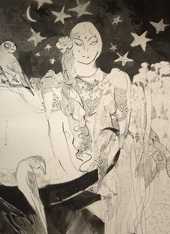 Beside of my dream 82|A. Vasudevan- Pen and Ink on Board, 2013, 30 x 22 inches