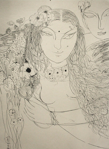Beside of my dream 85|A. Vasudevan- Pen and Ink on Board, 2013, 30 x 22 inches