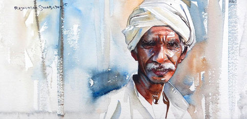 Portrait Series 120|R. Rajkumar Sthabathy- Water Color on Paper, 2012, 7.5 x 15 inches