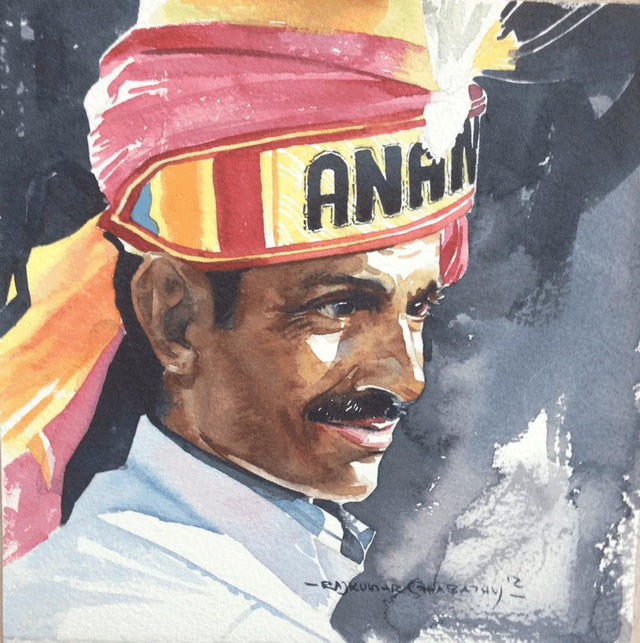 Portrait Series 133|R. Rajkumar Sthabathy- Water Color on Paper, 2012, 7 x 7 inches