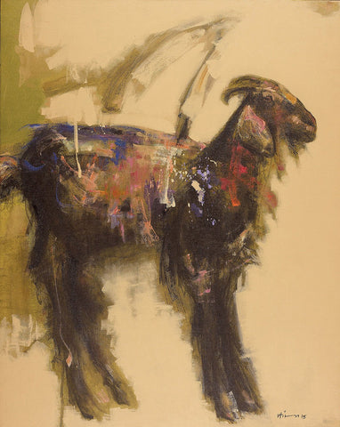 Wild goat|Ajay Deshpande- Acrylic on Canvas, 2015, 30 x 24 inches