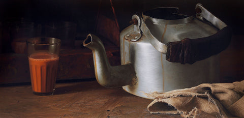 Still Life 3|B. Venkatesan- Oil on Canvas, 2015, 30 x 60 inches