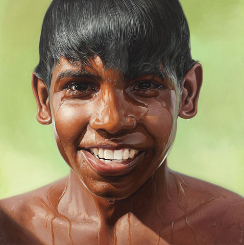 Bliss 8|B. Venkatesan- Oil on Canvas, 2013, 36 x 36 inches