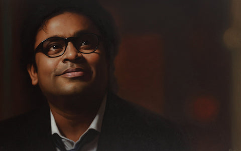 AR Rahman|B. Venkatesan- Oil on Canvas, 2014, 30 x 48 inches