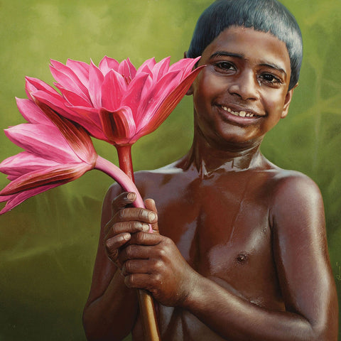 Bliss 10|B. Venkatesan- Oil on Canvas, 2014, 36 x 36 inches