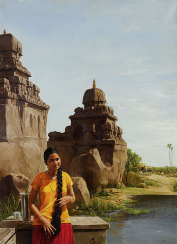 Neighbourhood 4|B. Venkatesan- Oil on Canvas, 2011, 39 x 27 inches