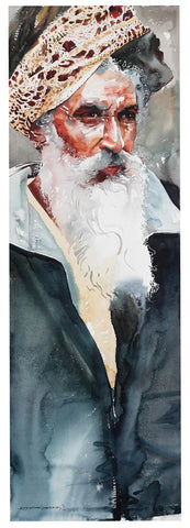 Kumbhmela Series 14|R. Rajkumar Sthabathy- Water Color on Paper, 2013, 45 x 15 inches