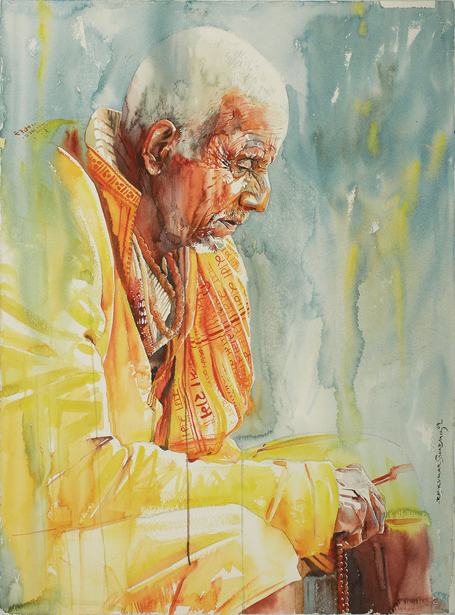 Kumbhmela Series 22|R. Rajkumar Sthabathy- Water Color on Paper, 2013, 30 x 22 inches